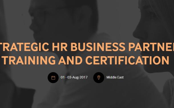 Strategic HR Business Partner  Training and Certification