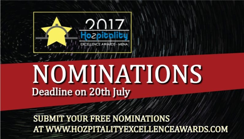 3rd Middle East Hospitality Excellence Awards 2017; Nominations Close 20th of July