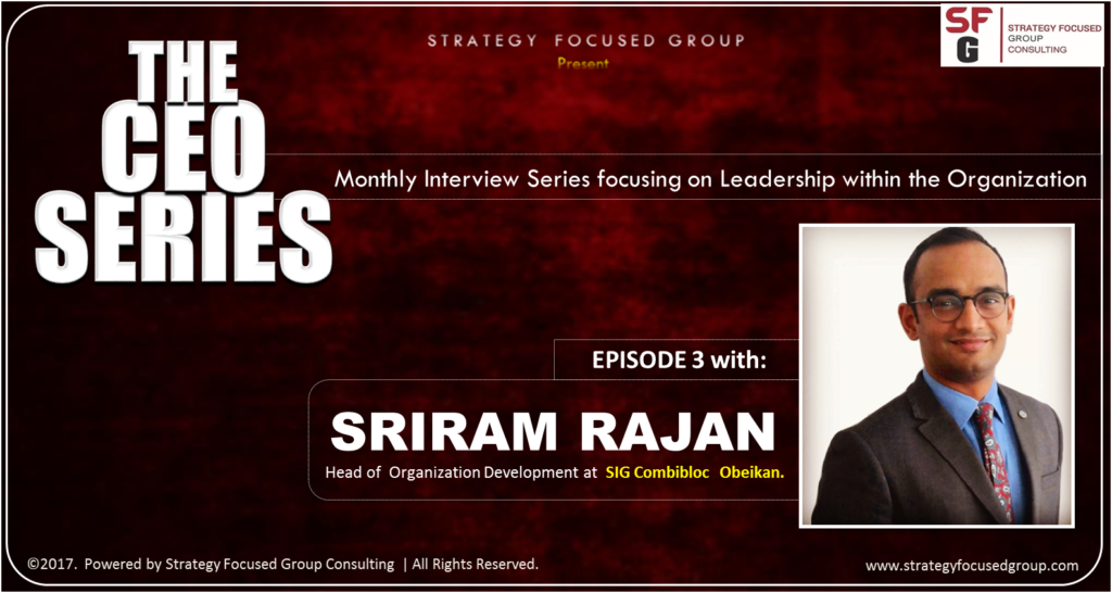 SHRM, What about teams, Sriram Rajan, SFG, The CEO Series