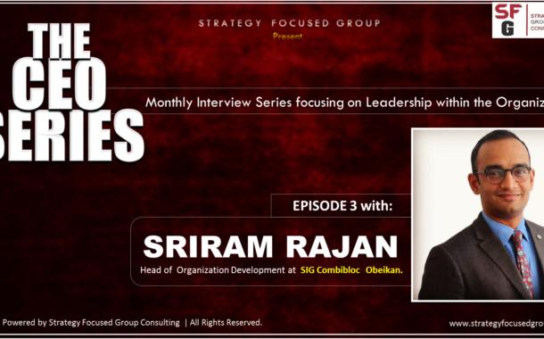 Meet Sriram Rajan, Head of Organization Development at SIG Combibloc Obeikan