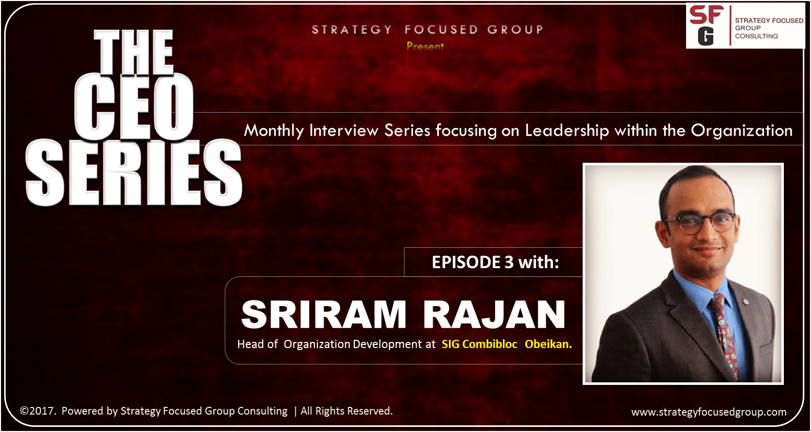 The CEO Series EP 3: HR Leadership Conversation with Sriram Rajan